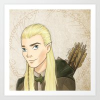 legolas Art Prints featuring Legolas by Joan Pons