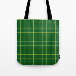 Green and Yellow Grid Tote Bag