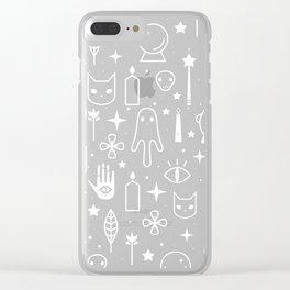 Spirit Symbols Black Clear iPhone Case