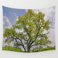 pear Wall Tapestries featuring Old pear tree by Pirmin Nohr