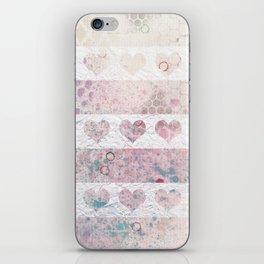 Heart rows iPhone Skin