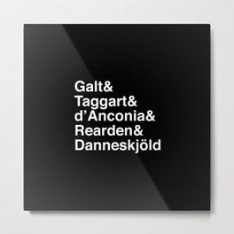 Helvetica Shrugged Metal Print