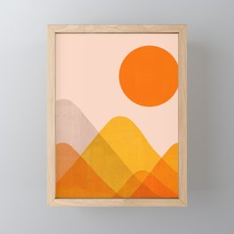 Abstraction_Mountains_02 Framed Mini Art Print