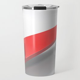 Euro and Dollar symbols at opposite sides of a balanced plane Travel Mug