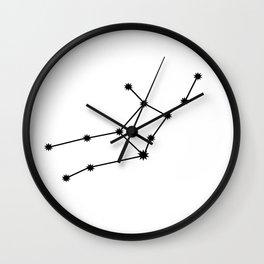 Virgo Star Sign Black & White Wall Clock