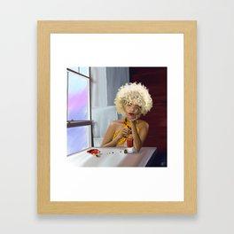 Cafe Red Framed Art Print