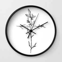 John 13:7 Cross Wall Clock