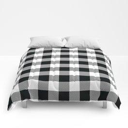 Buffalo Check Black White Plaid Pattern Comforters