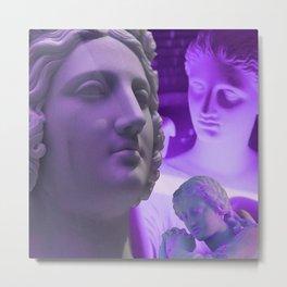 Pt.4 Light Evolution Purple Neon Metal Print