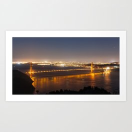 San Francisco Golden Bridge Art Print