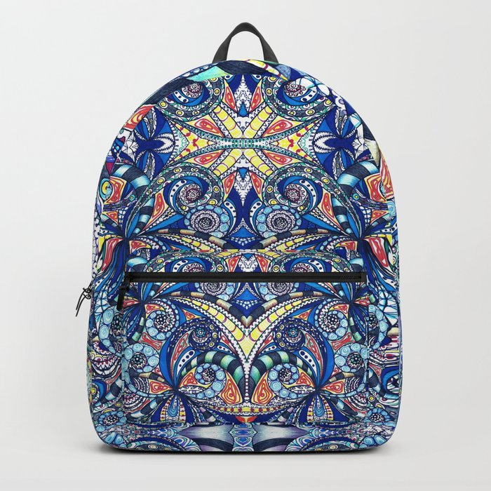 Drawing Floral Zentangle G7B Backpack