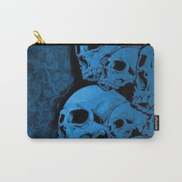 Blue skull pattern Carry-All Pouch