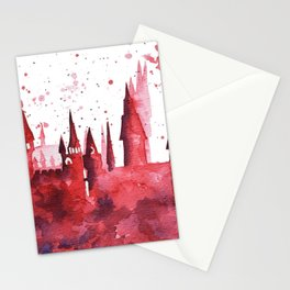 Hogwarts Watercolor Silhouette Stationery Cards