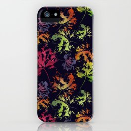 Autumn night walk iPhone Case