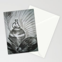 Stillness with peacock feather / Vaikus paabulinnu sulega Stationery Cards