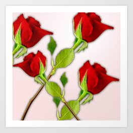 Red Rose For My Valentine Day Art Print