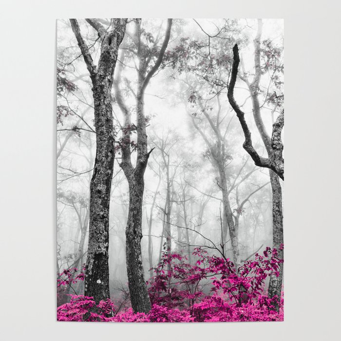 Princess Pink Forest Garden Poster