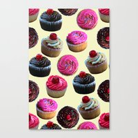 cupcakes Canvas Prints featuring Cupcakes by Tangerine-Tane