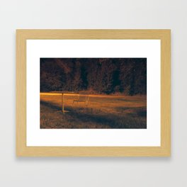 The chair on the lawn Framed Art Print