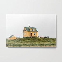 Old Farmers house Iceland Art Print Metal Print