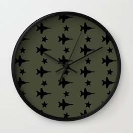 F-18 Hornet Fighter Jet Pattern Wall Clock