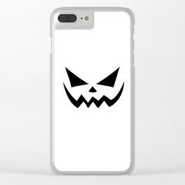 Scary Jack-O-Lantern Clear iPhone Case