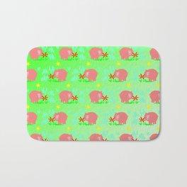 Pigs in clover Bath Mat