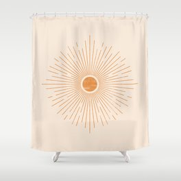 Sunburst Rays Shower Curtain