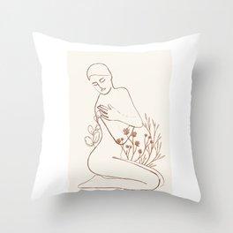 Soft Line Design 03 Throw Pillow