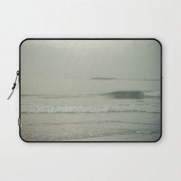 Morning Fog at Wrightsville Beach Jetty Laptop Sleeve