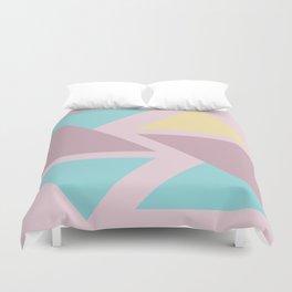 Origami triangle art pastel palette Duvet Cover