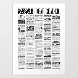Wizard People, Dear Reader Newspaper Print Art Print