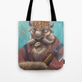 Bison Lumberjack Tote Bag