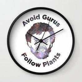 Terence Mckenna - Avoid Gurus, Follow Plants (Universe) Wall Clock