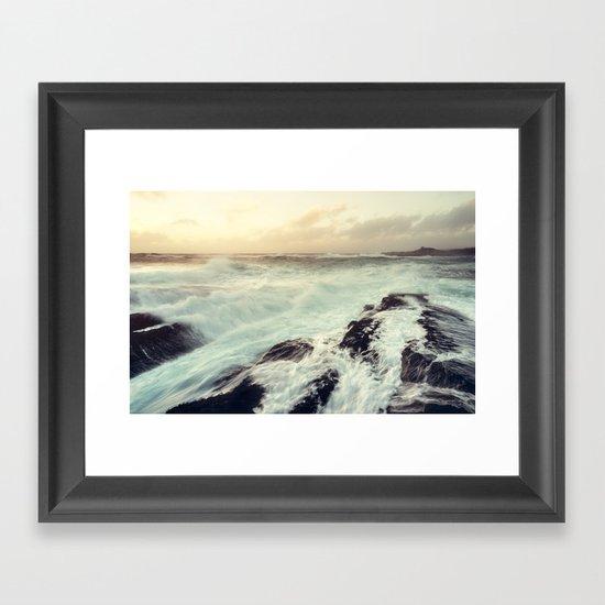 Washed in Surf Framed Art Print