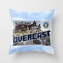 OverCast Card Throw Pillow