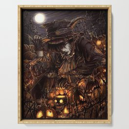 Dark giro halloween Serving Tray