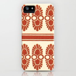 Vintage Orange Grecian Geometric Pattern and Design iPhone Case