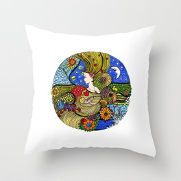 Circle of Life Throw Pillow