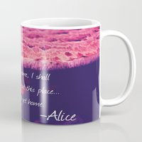 alice in wonderland Mugs featuring Wonderland by Josrick