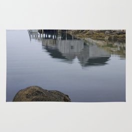 Early Morning at Peggy's Cove Harbor Rug