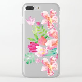 Watercolor spring Clear iPhone Case