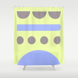 4  | 190203 Simple Geometry Shapes Shower Curtain