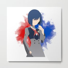 DARLING in the FRANXX Minimalist (Ichigo) Metal Print