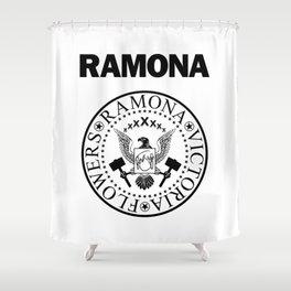 Ramona - White Shower Curtain