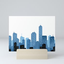 City Landscape Mini Art Print