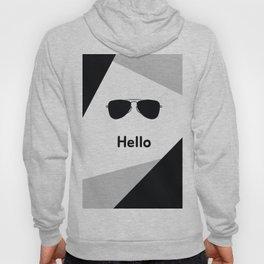 Hello,black sunglasses Hoody