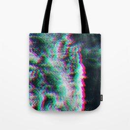 Oceanic Glitches - Splash of Greenery Tote Bag