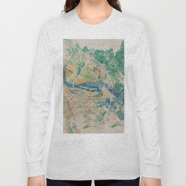 Amsterdam, the watercolor beauty Long Sleeve T-shirt