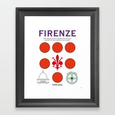 Firenze Tuscany Italy Vintage Decoration Print Posters Framed Art Print